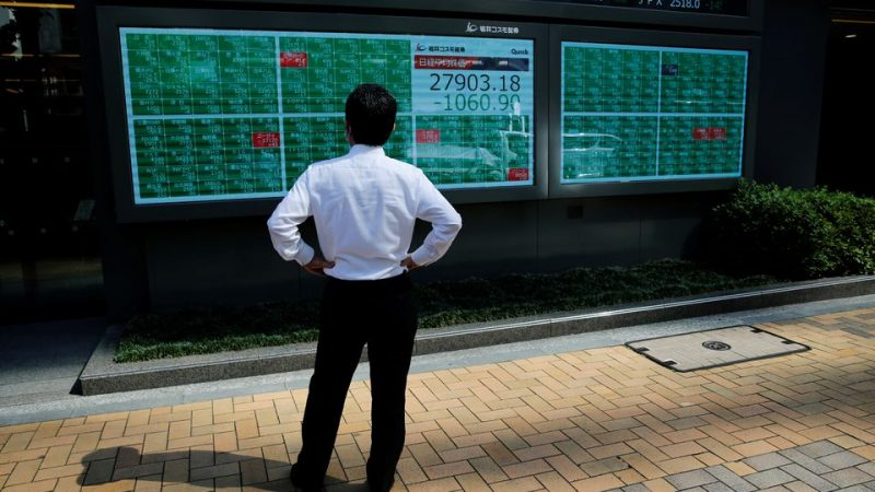Asia stocks stagger up from lows, mood fragile